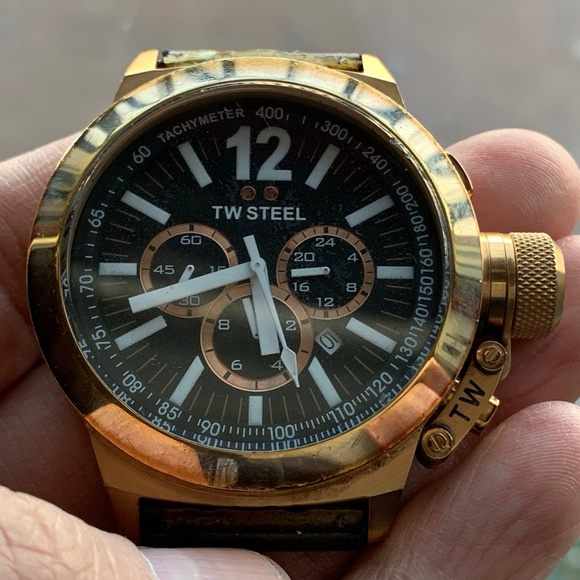 TW Steel Other - TW Steel CE1023 Men's Chronograph  45mm Gold Watch